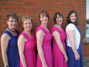 L-R Emma Hewett, Emma Richbell, Wendy Thompson, Julie Franklin, Julie Rout